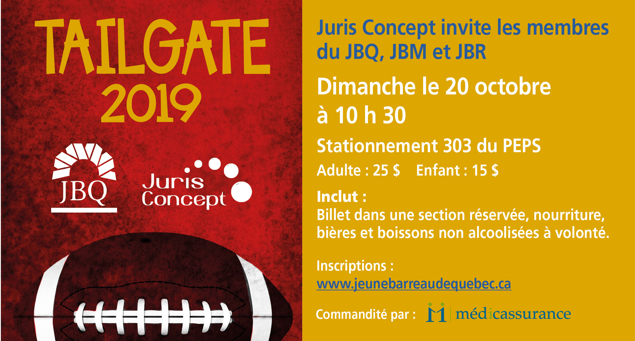 Tailgate Party Rouge et Or
